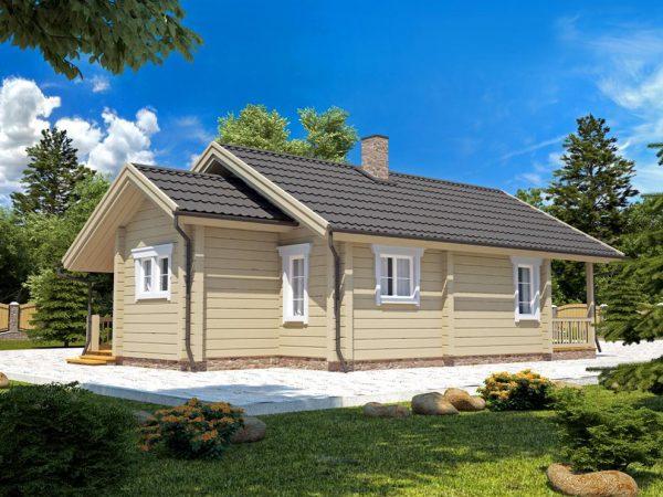 Casa de madera prefabricada Corrales 50