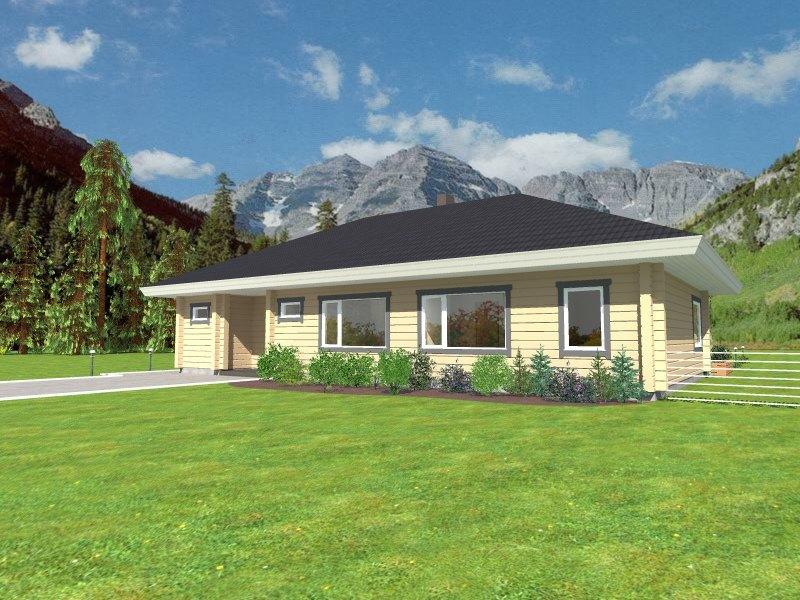 Casa de madera ecológica Isla 175