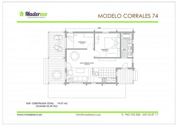 Casa prefabricada Corrales 74