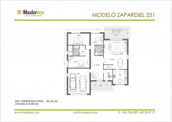 Casa prefabricada de madera Zapardiel 251