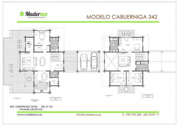 Casa de madera Cabuérniga 342