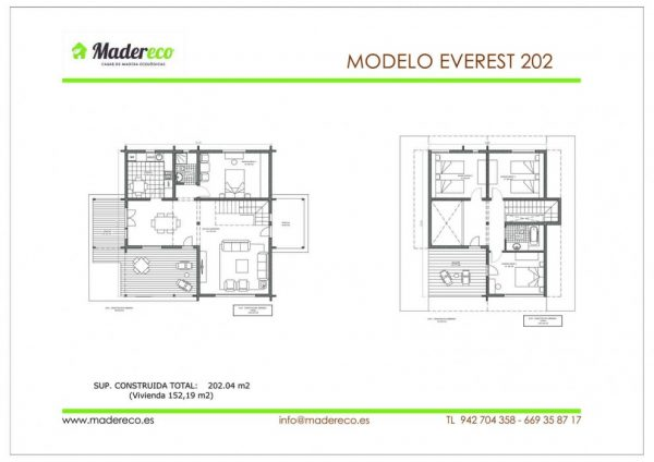 Casa prefabricada Everest 202