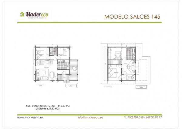 Casa prefabricada Salces 145