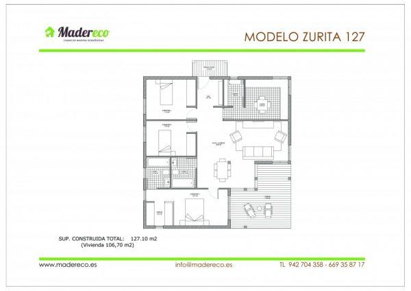 Casa prefabricada Zurita 127